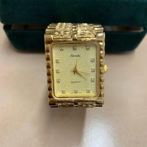 **Vintage Xanadu Men's Gold Tone Quartz Watch